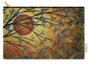 Abstract Golden Landscape Art Original Painting Peaceful Awakening I Diptych Set By Megan Duncanson Carry-all Pouch