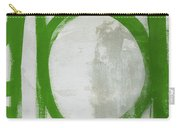 Abstract Green Circle 2- Art By Linda Woods Carry-all Pouch