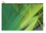 Abstract Green Vector Background Banner, Transparent Wave Lines  Carry-all Pouch