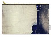 Abstract Guitar In The Foreground Close Up On Watercolor Painting Background. Carry-all Pouch