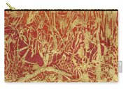 Abstract In Gold Carry-all Pouch
