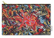 Abstract In Red Carry-all Pouch