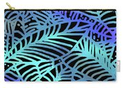 Abstract Leaves Black Aqua Carry-all Pouch