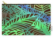 Abstract Leaves Cocoa Green Carry-all Pouch
