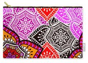 Abstract Mandala Floral Design Carry-all Pouch