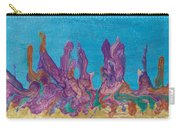 Abstract Mirage Cityscape In Blue Carry-all Pouch by Julia Apostolova