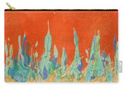 Abstract Mirage Cityscape In Orange Carry-all Pouch by Julia Apostolova
