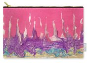Abstract Mirage Cityscape In Pink Carry-all Pouch by Julia Apostolova