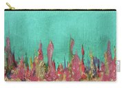 Abstract Mirage Cityscape In Turquoise Carry-all Pouch by Julia Apostolova