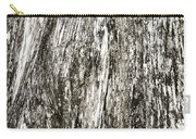 Abstract Monochrome Bark Carry-all Pouch