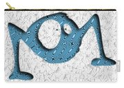 Abstract Monster Cut-out Series - Blue Rambler Carry-all Pouch