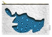 Abstract Monster Cut-out Series - Blue Swimmer Carry-all Pouch