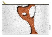Abstract Monster Cut-out Series - Orange Slither Carry-all Pouch