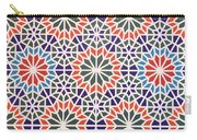 Abstract Moroccon Tiles Colorful Carry-all Pouch