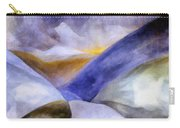 Abstract Mountain Landscape Carry-all Pouch by Michelle Calkins