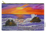 Abstract Ocean- Oil Painting- Puple Mist- Seascape Painting Carry-all Pouch