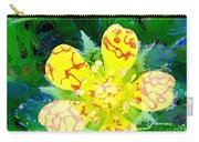 Abstract Of A Wild Buttercup Flower Carry-all Pouch