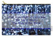 Abstract Of Blue Lights Text Carry-all Pouch