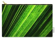 Abstract Of Green Leaf Of Exotic Palm Tree Carry-all Pouch