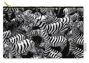Abstract Of Zebras Statue In Various Sizes  Carry-all Pouch