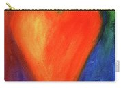 Abstract Orange Heart 1 Carry-all Pouch