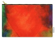 Abstract Orange Heart 2 Carry-all Pouch
