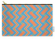 Abstract Orange, Red And Cyan Pattern For Home Decoration Carry-all Pouch