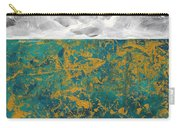 Abstract Original Painting Contemporary Metallic Gold And Teal With Gray Madart Carry-all Pouch