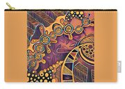 Abstract Pattern With Purple Carry-all Pouch