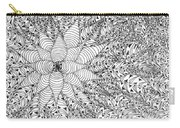 Abstract Pen And Ink Design In Black And White Carry-all Pouch