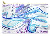 Abstract Pen Drawing Forty-two Carry-all Pouch