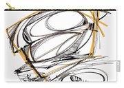 Abstract Pen Drawing Four Carry-all Pouch