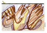 Abstract Pen Drawing Nine Carry-all Pouch