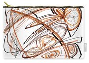 Abstract Pen Drawing Ten Carry-all Pouch