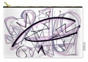 Abstract Pen Drawing Thirty-six Carry-all Pouch