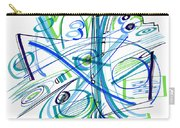 Abstract Pen Drawing Thirty-three Carry-all Pouch
