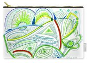 Abstract Pen Drawing Thirty-two Carry-all Pouch