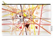 Abstract Pen Drawing Three Carry-all Pouch