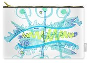 Abstract Pen Drawing Twenty-five Carry-all Pouch