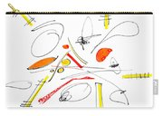 Abstract Pen Drawing Twenty-four Carry-all Pouch