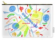 Abstract Pen Drawing Twenty-seven Carry-all Pouch