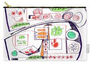 Abstract Pen Drawing Twenty-three Carry-all Pouch