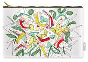 Abstract Pen Drawing Twenty-two Carry-all Pouch