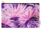 Abstract Purple Flowers Carry-all Pouch