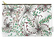 Abstract Red And Green Design  Carry-all Pouch