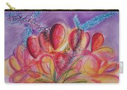 Abstract Red And Purple And Blue Carry-all Pouch