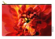 Abstract Red Chrysanthemum Carry-all Pouch