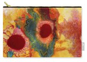 Abstract Red Flower Garden Panoramic Carry-all Pouch