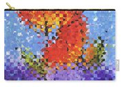 Abstract Red Flowers - Pieces 5 - Sharon Cummings Carry-all Pouch