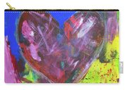 Abstract Red Heart Acrylic Painting Carry-all Pouch